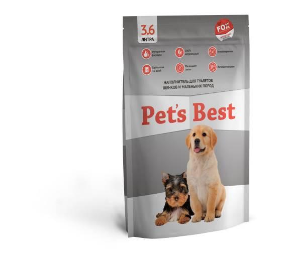 Силикагелевый наполнитель для туалетов котят и щенков Pet's Best Gray 3.6л