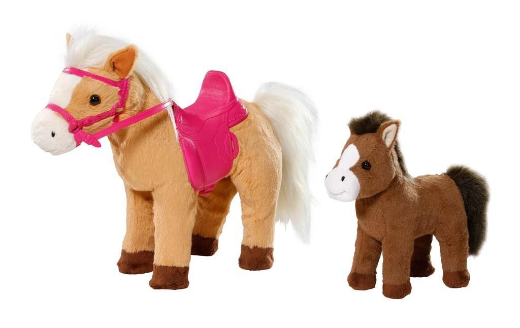 Интерактивная лошадка с жеребенком куклы Беби Борн Baby Born Zapf Creation 822371