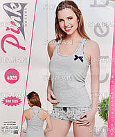 Женский комплект майка+шорты Турция PinkSecret 4026. Размер 44-46.
