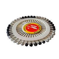 Портновская булавка черно-белые 40 шт. на диске