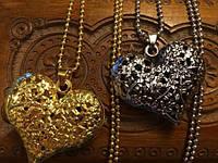 Кулон ажурный под состаренное серебро на Валентина, 8 марта