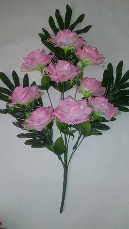 Искусственный букет- роза на папоротнике, фото 2