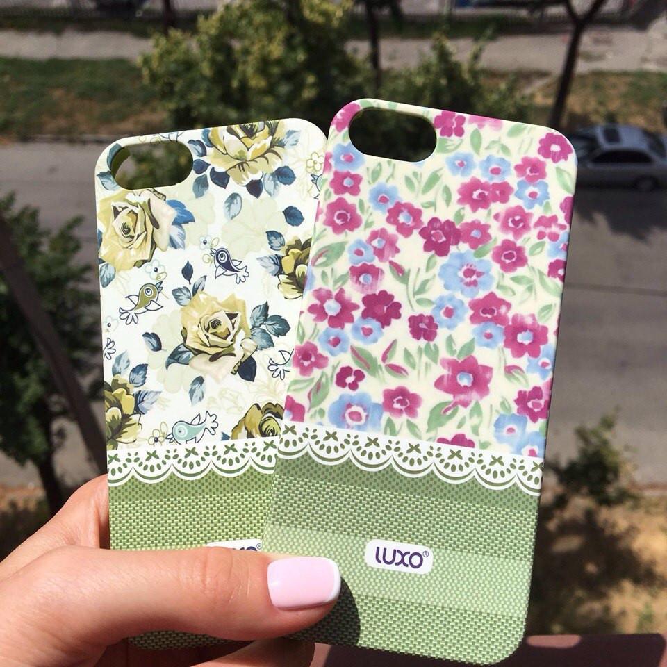 Пластиковый чехол с цветочным принтом для iPhone 5/5s/se