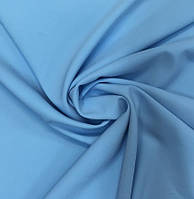 Ткань креп костюмній голубой,  стрейч Барби ,  ткани АРТ ТЕКСТИЛЬ
