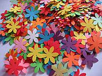 Набор высечек 50 штук Цветок 24х24 мм
