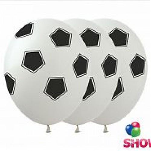 Воздушный шар Футбольный мяч 30 см белый