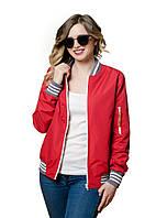 Женская весення куртка, бомбер Olymp красный (куртки весна, осень-весна)