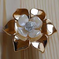 Декоративный магнит-подхват для штор и тюли Цветок №3