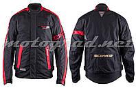 Мотокуртка текстиль чорно-червона mod: JK34 SCOYCO