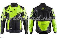 Мотокуртка текстиль чорно-зелена mod: JK36 SCOYCO