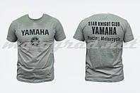 Футболка mod: Club 100% хлопок серая YAMAHA