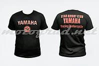 Футболка mod: Club 100% хлопок черная YAMAHA