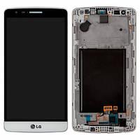Дисплей (экран) для LG G3s D724 с сенсором (тачскрином) и рамкой белый