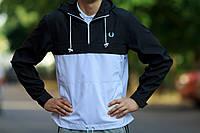 Черно-белый анорак (куртка, ветровка) Fred Perry (опт и розница)