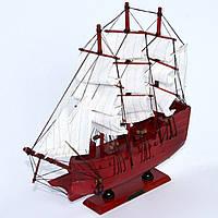 Модель парусного корабля из дерева 34 см 6051G