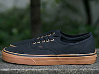 Кеды Vans Authentic - Black/Rubber (вансы, ванс атлетик)