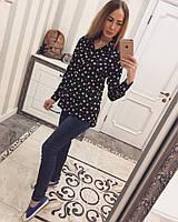 Черная стильная женская рубашка