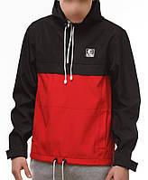 Красно-черный анорак (куртка, ветровка) Ястребь (опт и розница)
