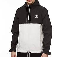 Черно-белый анорак (куртка, ветровка) Ястребь (опт и розница)