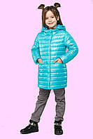 Супермодная детская демисезонная куртка плащ прямого фасона. 28.30.32.34.36.38.40.42