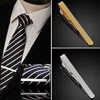 Зажим для галстука мужской серебристый