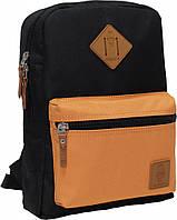 Молодежный,дорожный рюкзкак Bagland чорный Orange mini