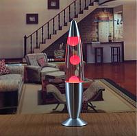 Лава лампа, парафиновая лампа 31 см  - Motion Lamp - цвет красный, фото 1