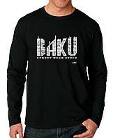 Baku - Футболка Мужская с длинным рукавом (лонгслив) с Дизайном