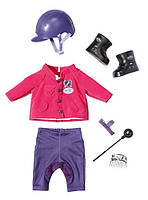 Одежда для куклы Беби Борн костюм для верховой езды Делюкс Deluxe Baby Born Zapf Creation 822340 , фото 1