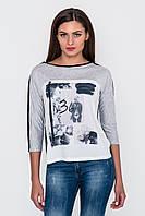 Женский серый свитшот с рисунком