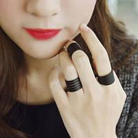 Набор колец (3 шт.) на фалангу пальцев черный. Размер регулируется.