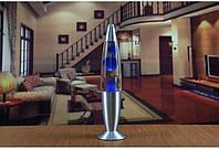 Лава лампа, парафиновая лампа 40 см  - Motion Lamp - цвет синий