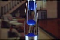 Лава лампа, парафиновая лампа 31 см  - Motion Lamp - цвет синий