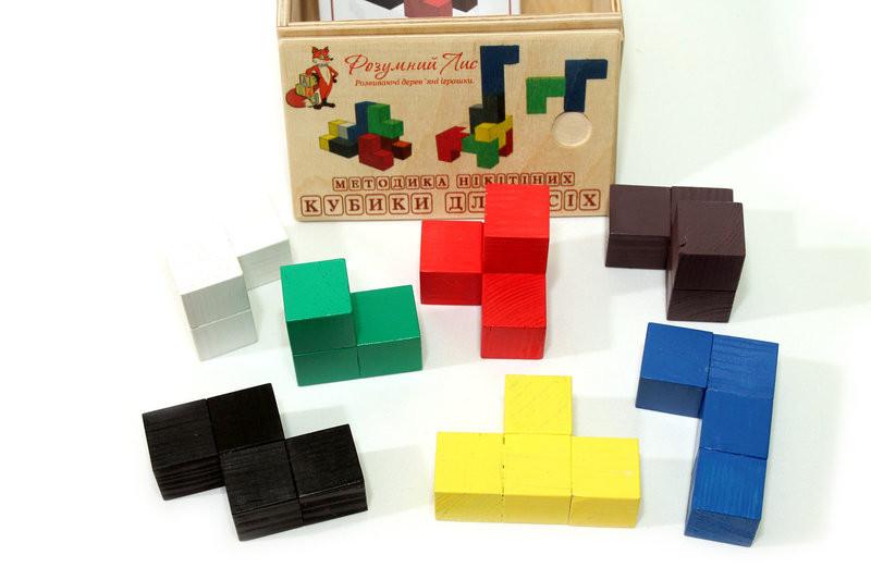 Кубики Нікітіна Кубики для всіх / Сообразилка Розумний лис (90048)