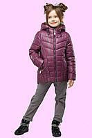Стильная весенняя куртка для девочек из стеганого текстиля утеплена легким синтепухом 28.30.32.34.36.38.40.42
