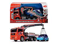 Автомобиль Эвакуатор с воздушной помпой и легковым авто Dickie Toys