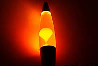 Лава лампа, парафиновая лампа 31 см  - Motion Lamp - цвет оранжевый