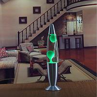 Лава лампа, парафиновая лампа 40 см  - Motion Lamp - цвет зеленый