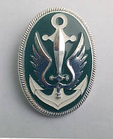 Кокарда морской пехоты серебро металическая