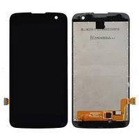 Дисплей (экран) для LG K4 K120E, K4 K121, K4 K130E + с сенсором (тачскрином) черный