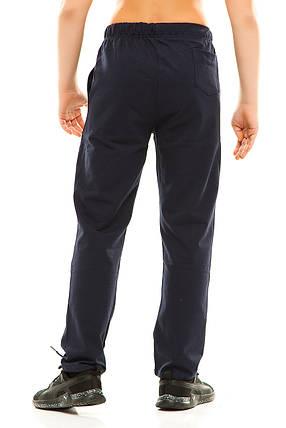Подросток спортивные штаны 313/1 темно-синие, фото 2
