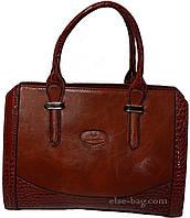 Рыжая каркасная  женская  сумка
