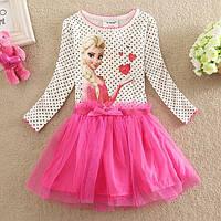 Нарядное платье Эльза с розовой юбкой