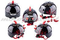 Шлем детский открытый черный DEVIL GSB