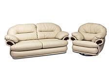 Шкіряний комплект меблів Орландо без реклайнера (3+1), м'які меблі, меблі в шкірі, шкіряні меблі, фото 2