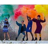 5 штук! Набор Дыма для фотосессии -Красный, Желтый, Оранжевый, Зеленый, Синий (Средняя насыщенность)