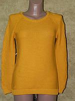 Кофта женская желтого вязка