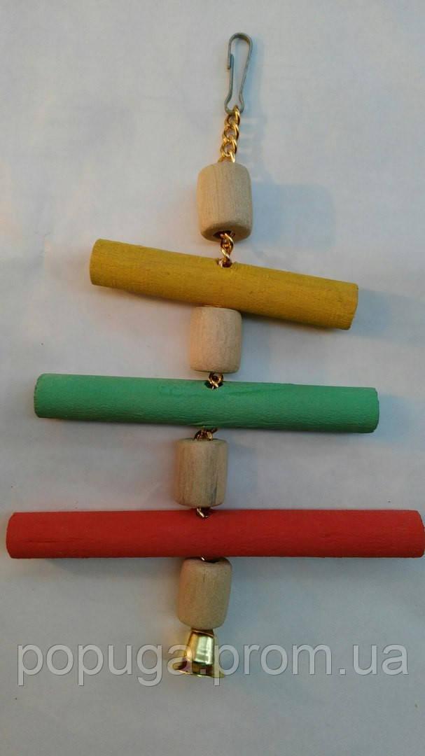 Деревянная игрушка для попугая