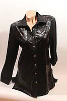 Женская рубашка-туника оптом VSA черный