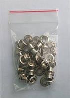 Блочки для обуви (заклепки) никель(40шт)